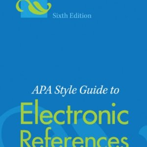 APA Style Guide To Electronic References eBook
