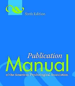 Publication Manual of the APA, 6th Edition eBook