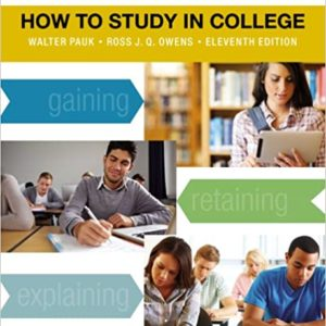 How to Study in College by Walter Pauk eBook
